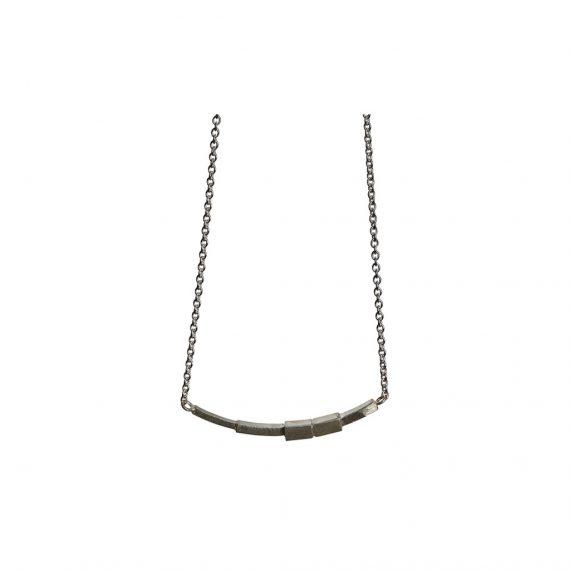 Halskæde i sølv - Cubes af Guldsmed Ø
