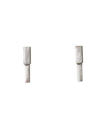 Kort sølvørering - Cubes af Guldsmed Ø