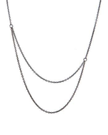 Oxyderet sølvhalskæde - Radius af Guldsmed Ø